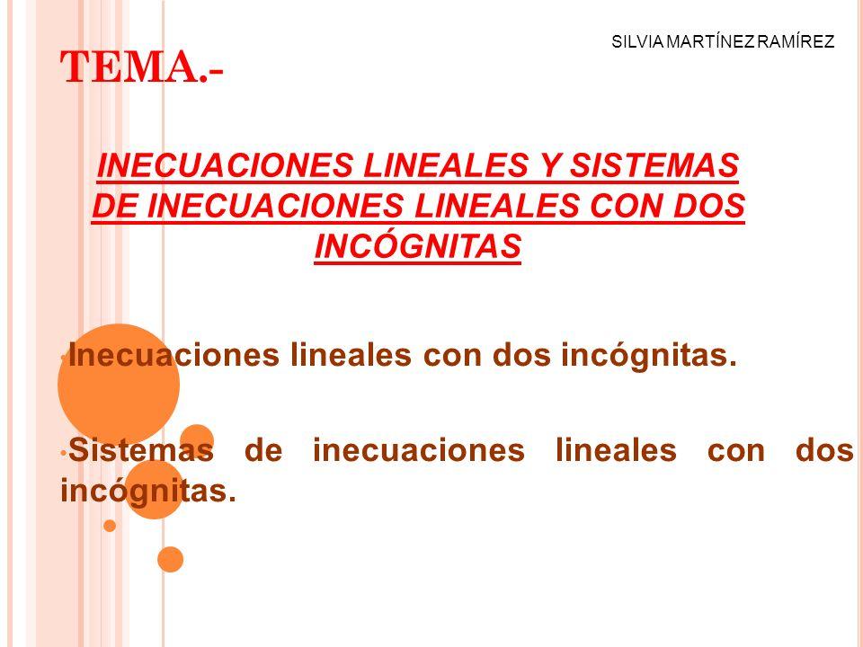 TEMA.- Inecuaciones lineales con dos incógnitas.