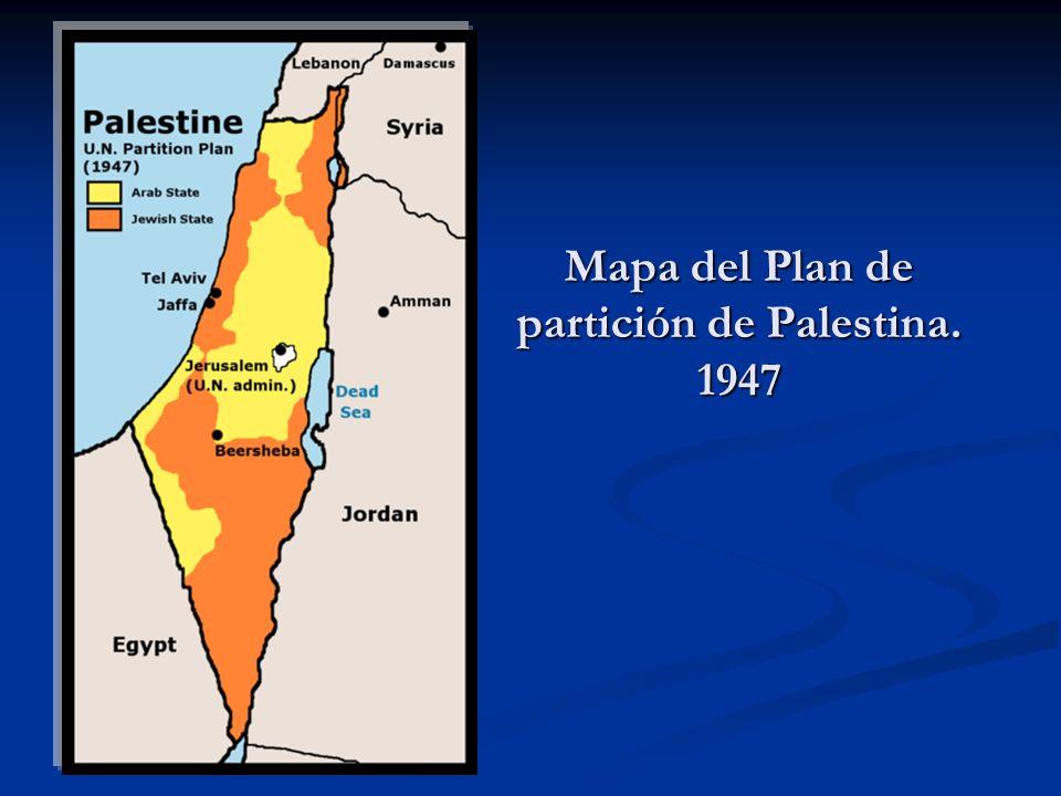 Mapa del Plan de partición de Palestina. 1947