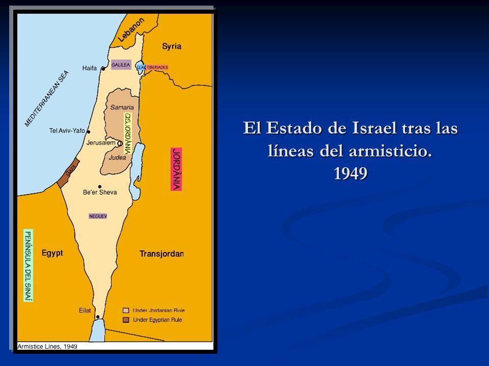 El Estado de Israel tras las líneas del armisticio. 1949