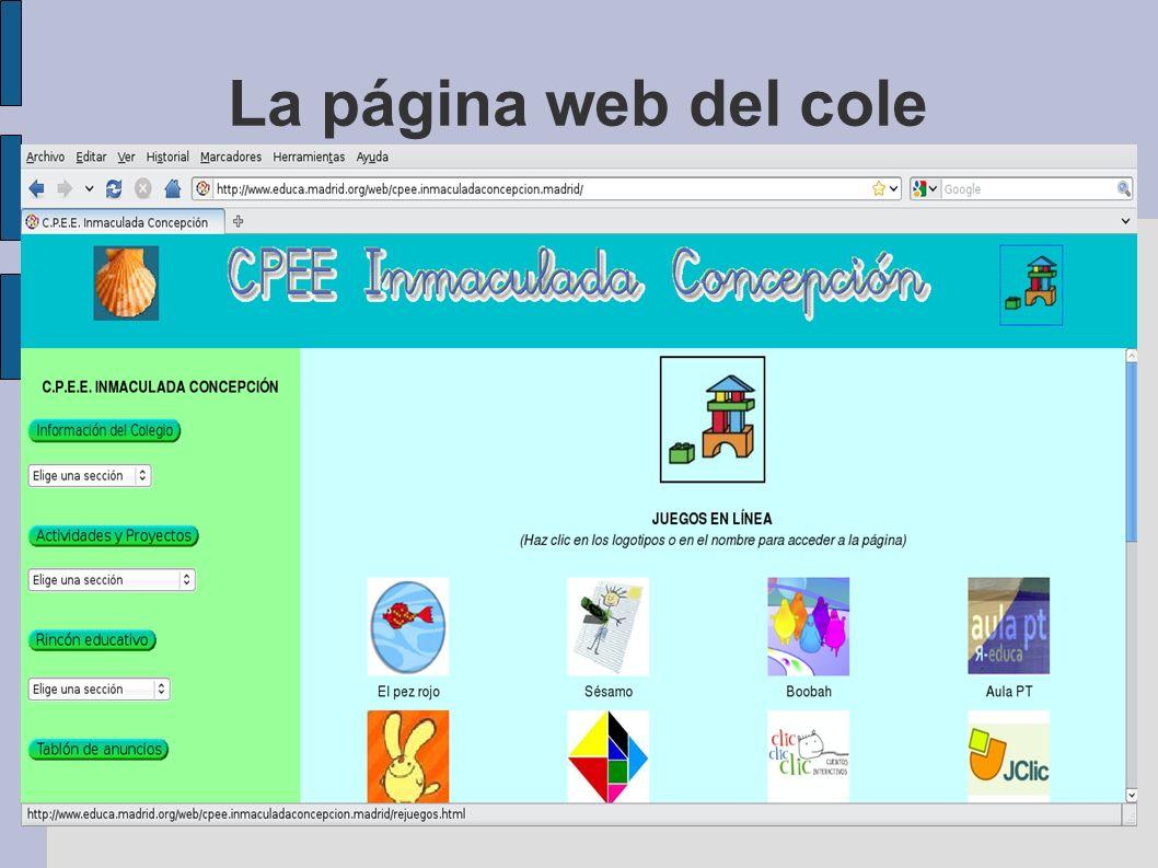La página web del cole