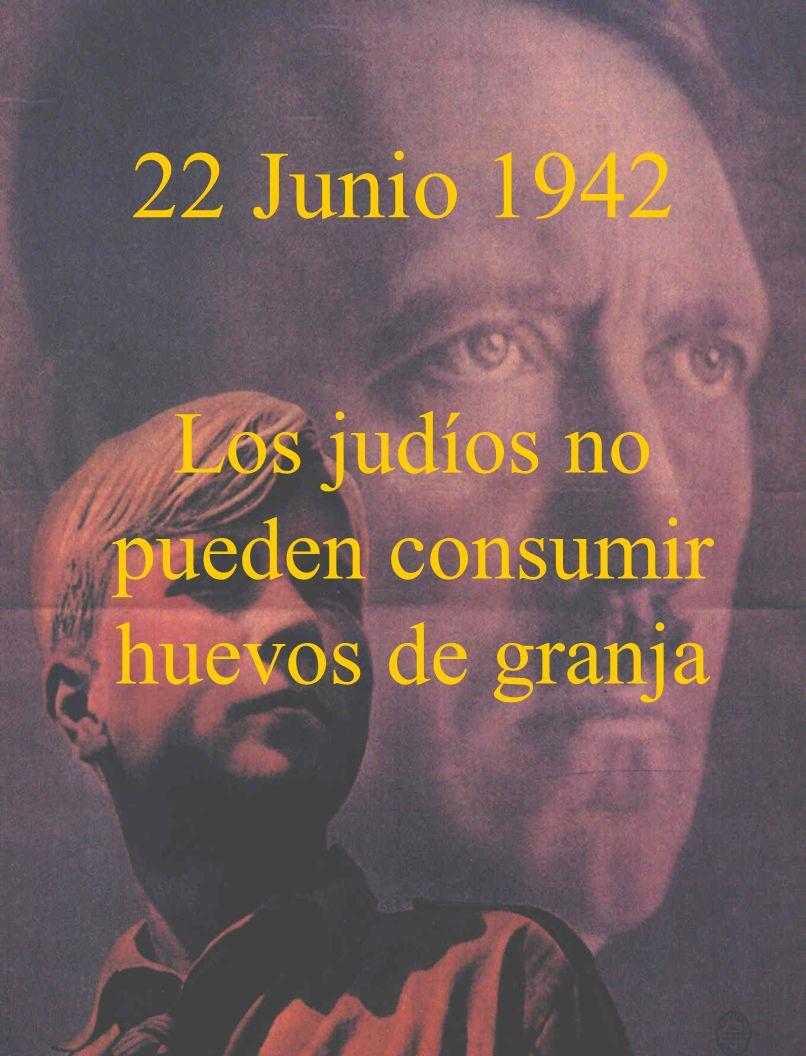 10 Julio 1942 Judíos no pueden consumir leche fresca