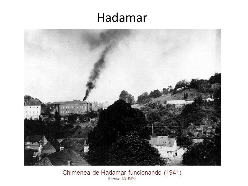 Hadamar Chimenea de Hadamar funcionando (1941) (Fuente: USHMM )