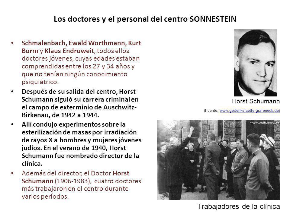 Los doctores y el personal del centro SONNESTEIN Schmalenbach, Ewald Worthmann, Kurt Borm y Klaus Endruweit, todos ellos doctores jóvenes, cuyas edade