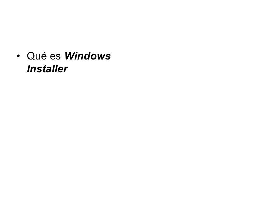 Qué es Windows Installer
