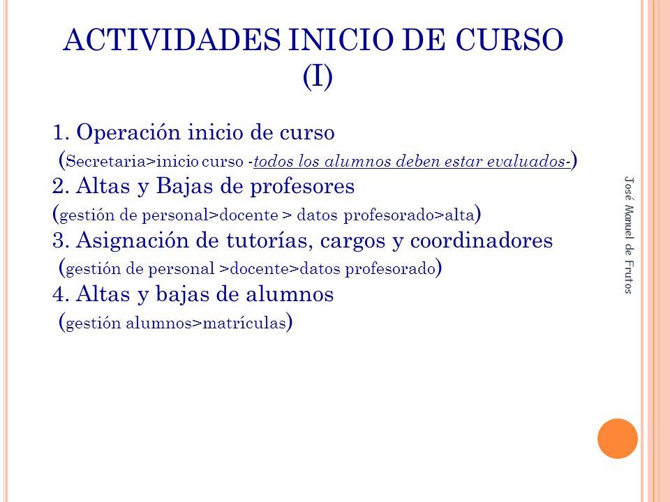 ACTIVIDADES INICIO DE CURSO (II) 5.- Horarios del profesorado DECRETO 17/2008, de 6 de marzo, del Consejo de Gobierno, por el que se desarrollan para la Comunidad de Madrid las enseñanzas de la Educación Infantil.