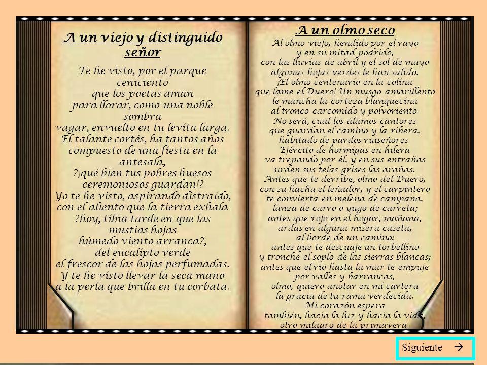 Antonio Machado Sevilla 1875-1939 (Sevilla, 1875 - Collioure, 1939) Poeta español. Aunque influido por el modernismo y el simbolismo, su obra es expre