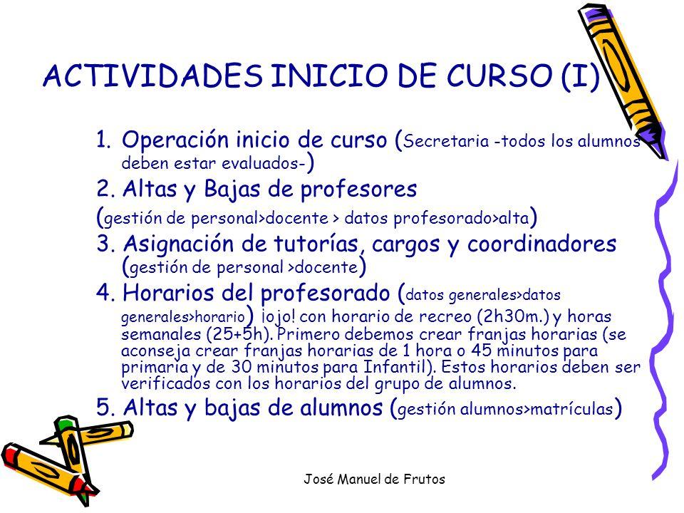 José Manuel de Frutos ACTIVIDADES INICIO DE CURSO (II) 6.