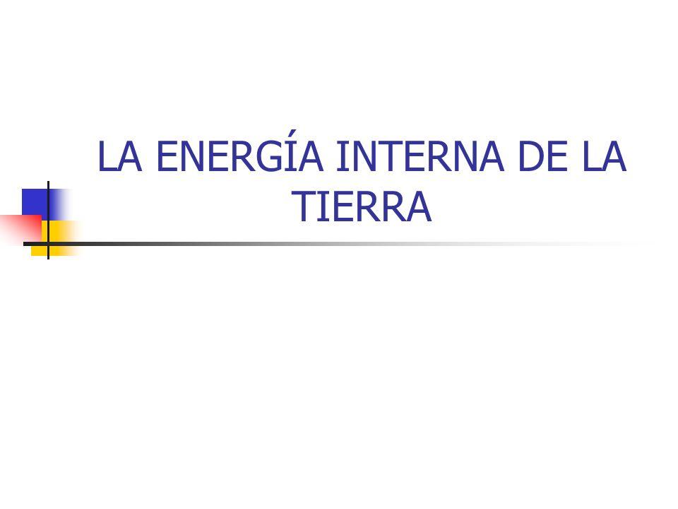 ORIGEN DEL CALOR INTERNO TERRESTRE El calor interno, denominado energía geotérmica procede, fundamentalmente de las radiaciones emitidas pro la desintegración de elementos radiactivos del interior de la Tierra.