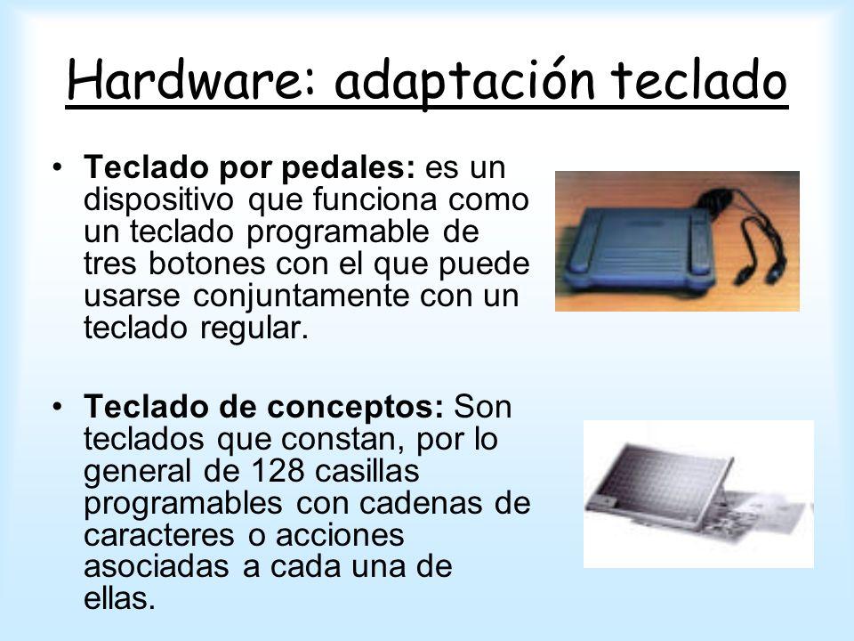 Hardware: adaptación teclado Teclado por pedales: es un dispositivo que funciona como un teclado programable de tres botones con el que puede usarse c