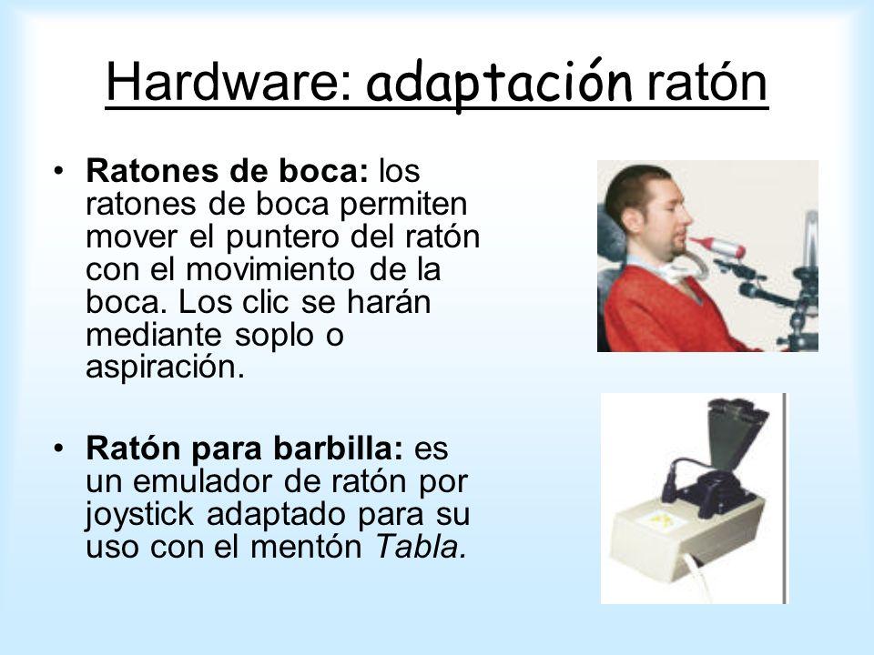 Ratones PAD: para personas que tienen dificultades en el manejo de los ratones pero tienen capacidad para independizar un dedo.