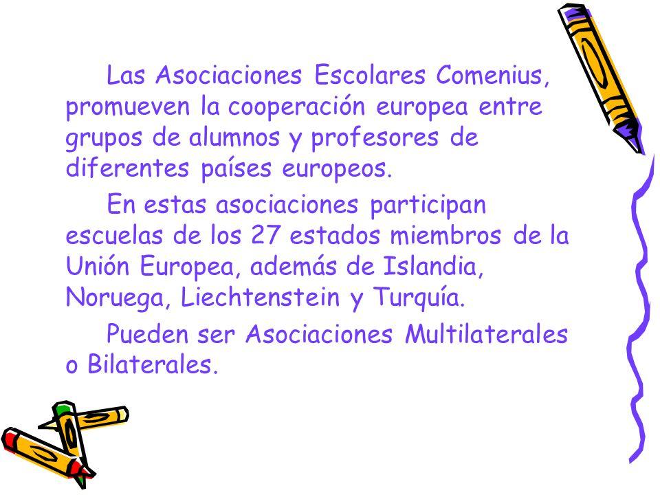 Asociaciones Multilaterales Destinadas a centros educativos de educación infantil, primaria y secundaria.