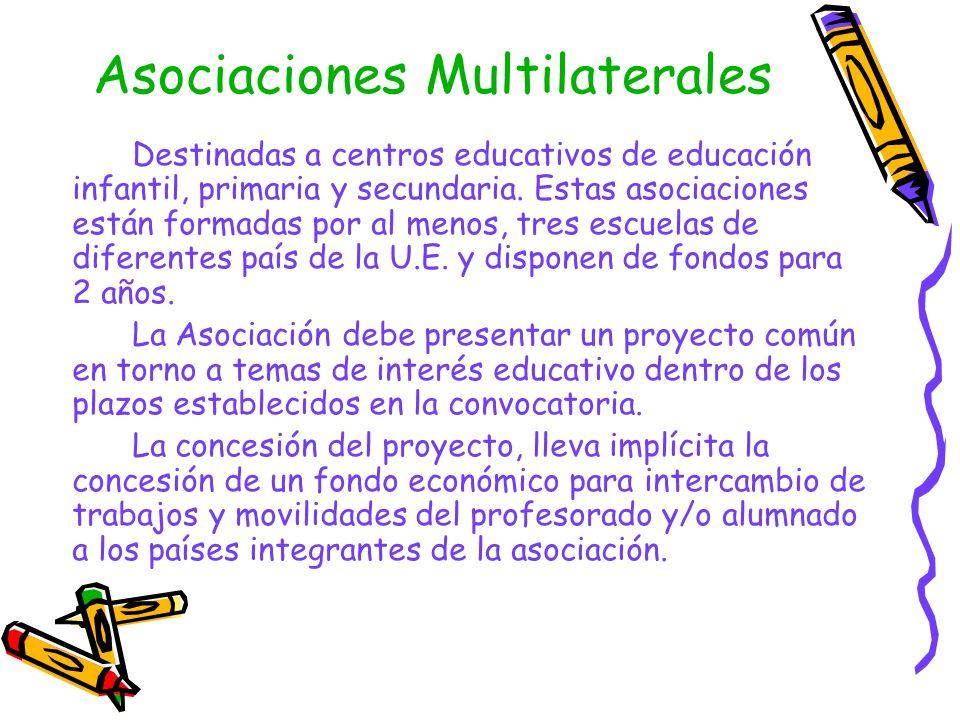 Asociaciones Bilaterales Sólo Secundaria Están diseñadas para que 2 escuelas de la U.E.