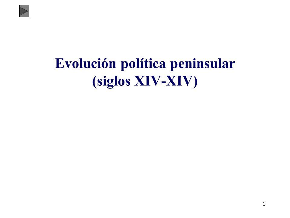 1 Evolución política peninsular (siglos XIV-XIV)