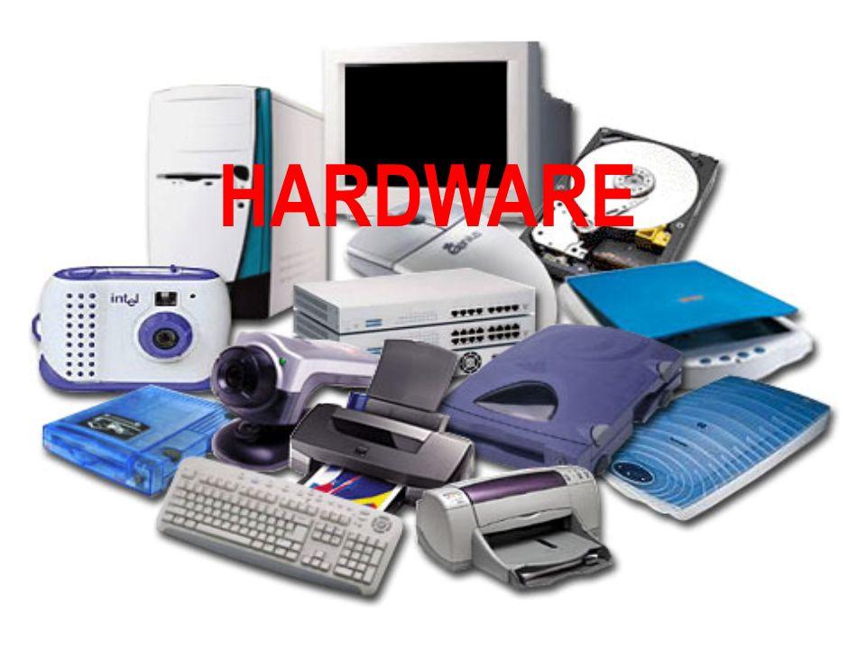 HARDWARE Y SOFTWARE Hardware: conjunto de dispositivos físicos que integran el ordenador: unidad central de proceso, monitor, teclado, unidad de disco, impresora, ratón, etc Software: conjunto de instrucciones que dirigen los distintos componentes del ordenador.