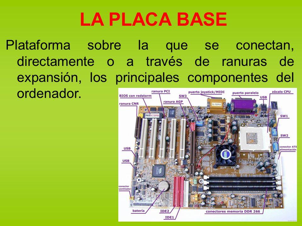 EL MICROPROCESADOR Se inserta en el zócalo destinado a él en la placa base.