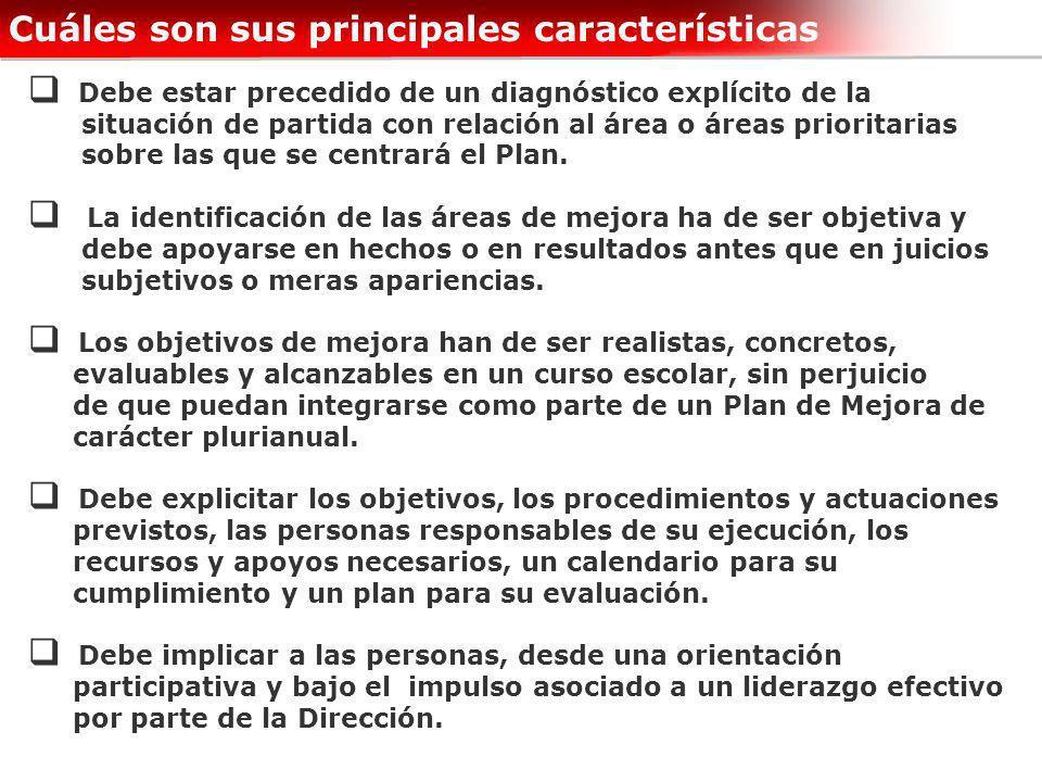 Debe estar precedido de un diagnóstico explícito de la situación de partida con relación al área o áreas prioritarias sobre las que se centrará el Pla