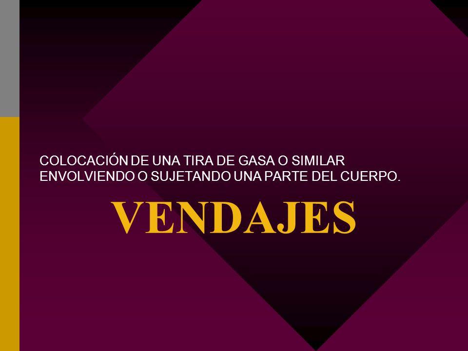 CLASIFICACIÓN DE VENDAJES SEGÚN SU FINALIDAD V.de fijación.