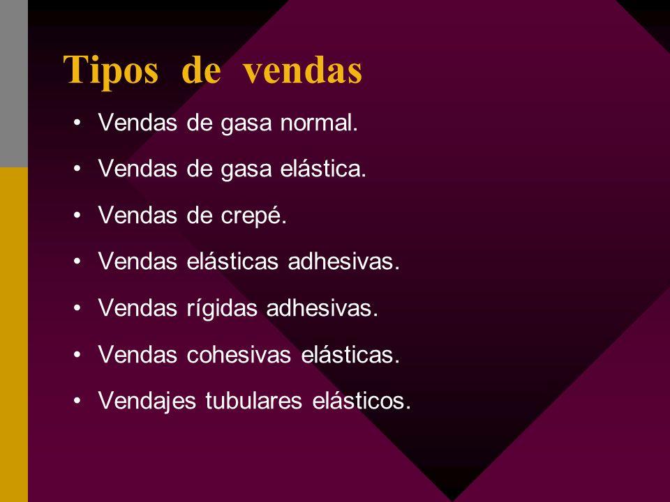 TIPOS DE VENDAJES SEGÚN LA ZONA DE APLICACIÓN V.