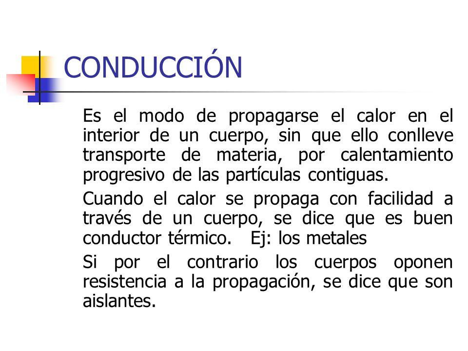 CONVECCIÓN Es el método de propagación del calor más habitual en los fluidos (líquidos y gases).