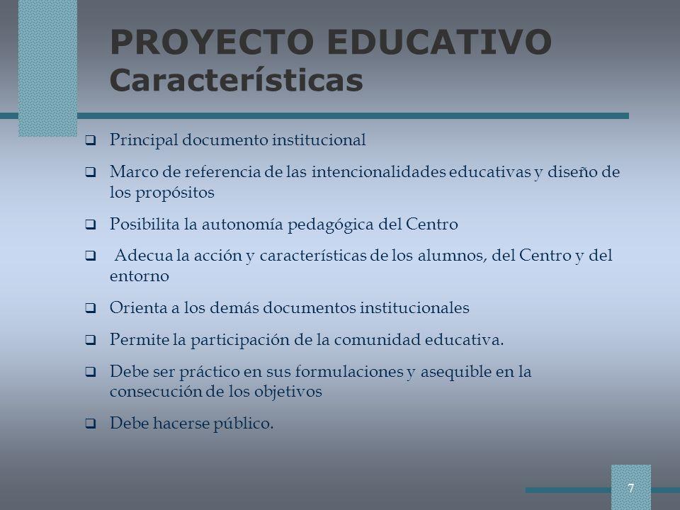 PAD Plan anual de compensación educativa (II) Modelos organizativos adoptados.