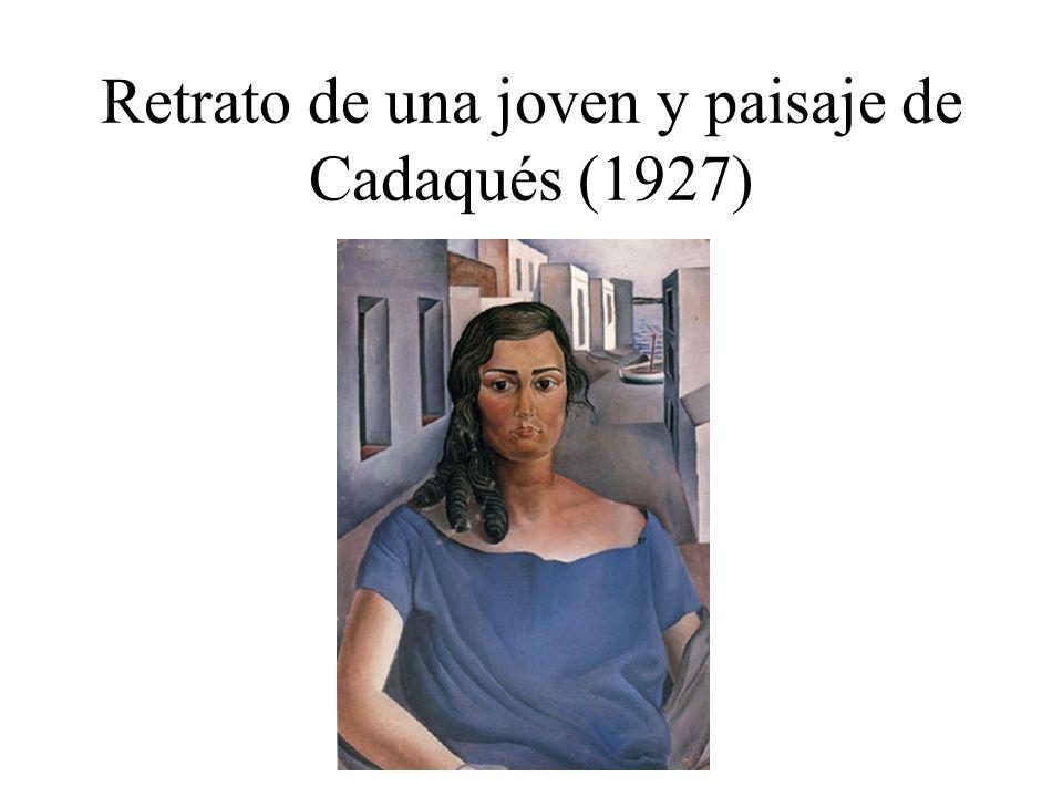 Retrato de una joven y paisaje de Cadaqués (1927)
