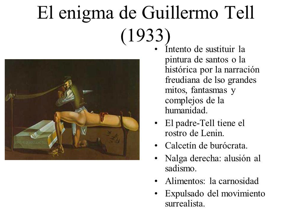 El enigma de Guillermo Tell (1933) Intento de sustituir la pintura de santos o la histórica por la narración freudiana de lso grandes mitos, fantasmas
