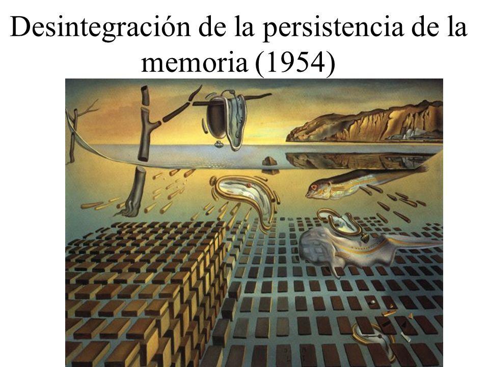 Desintegración de la persistencia de la memoria (1954)