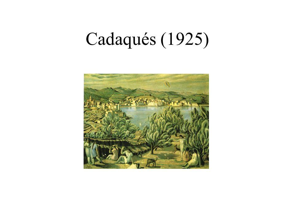 Muchacha asomada a la ventana (1925) Composición mediterraneista Dalí representa las dos cosas que más asimila: El trasero de su hermana El paisaje de Cadaqués