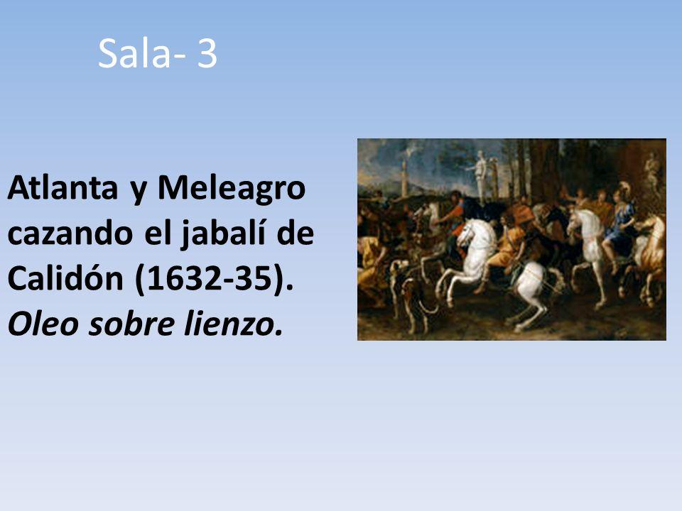 Atlanta y Meleagro cazando el jabalí de Calidón (1632-35). Oleo sobre lienzo. Sala- 3
