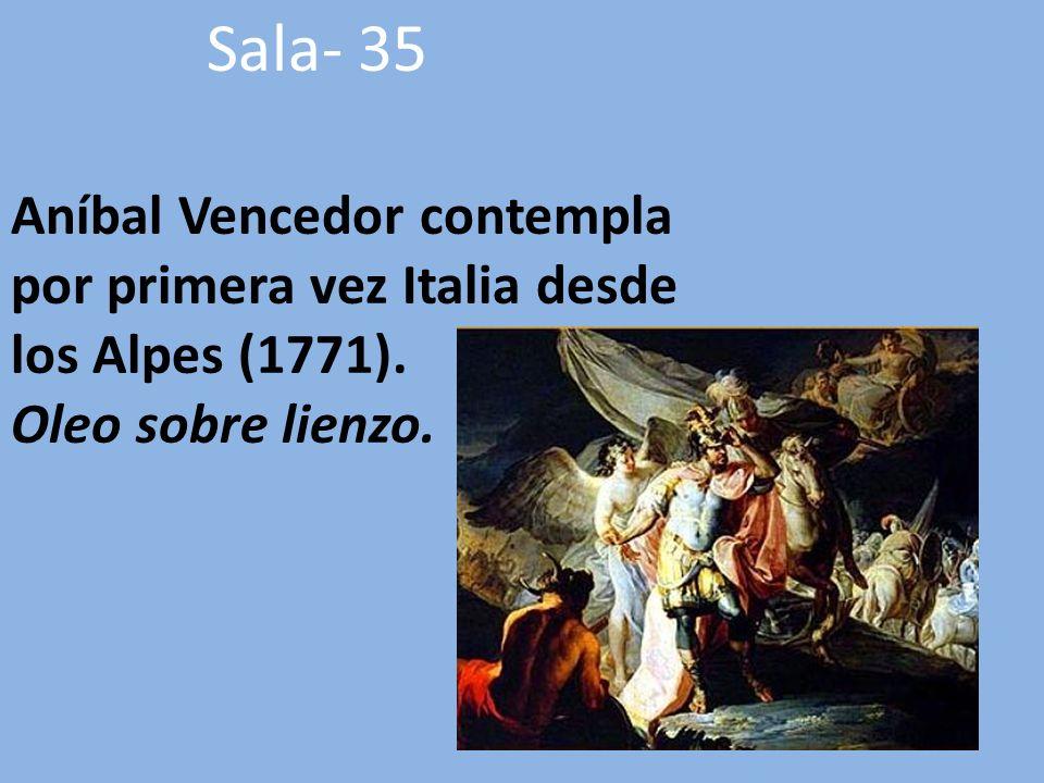 Aníbal Vencedor contempla por primera vez Italia desde los Alpes (1771).