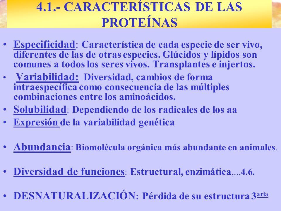 Origen prebiótico. Solo 5 aa adquieren forma hélice y se asocian Especificidad: Característica de cada especie de ser vivo, diferentes de las de otras