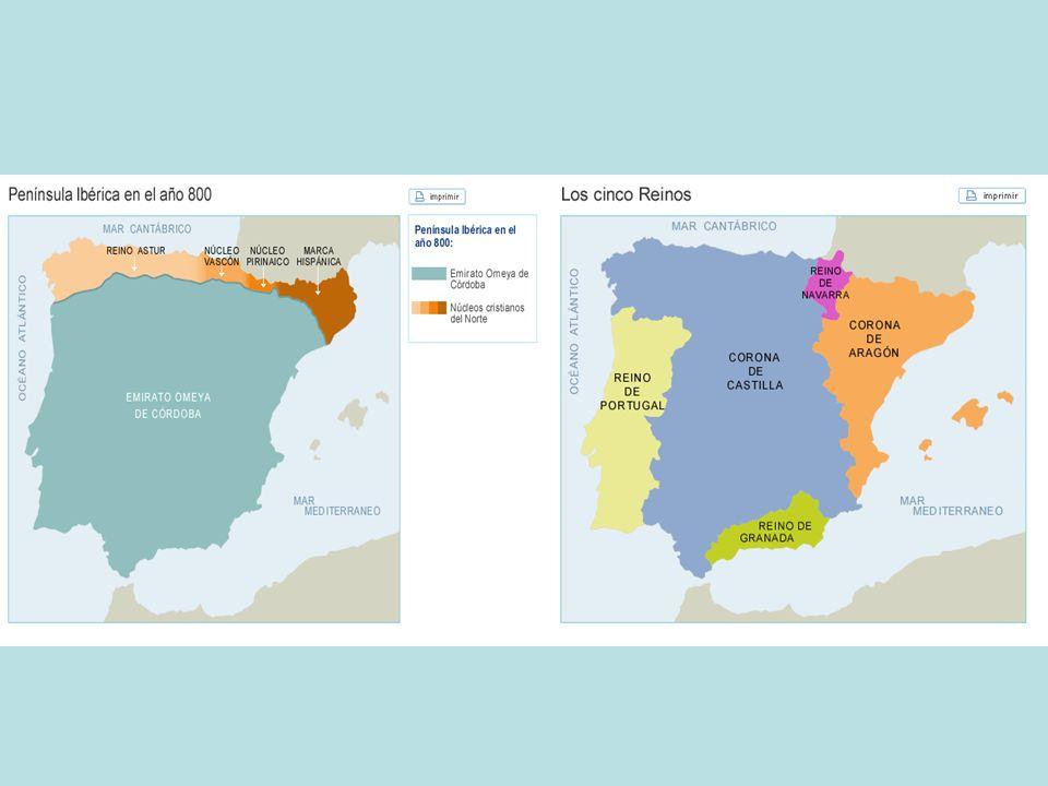 MONARQUIA ARAGONESA Confederación de territorios independientes ( Reino de Aragón, Principado de Cataluña, Reino de Valencia y Reino de Mallorca ) que comparten un mismo monarca.