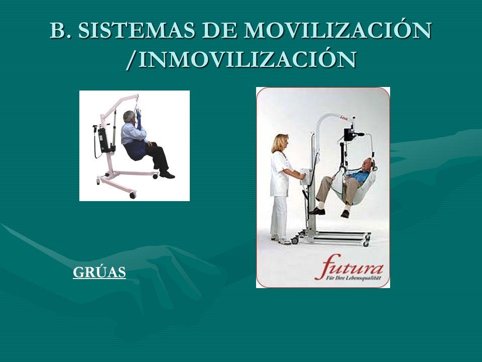 B. SISTEMAS DE MOVILIZACIÓN /INMOVILIZACIÓN GRÚAS