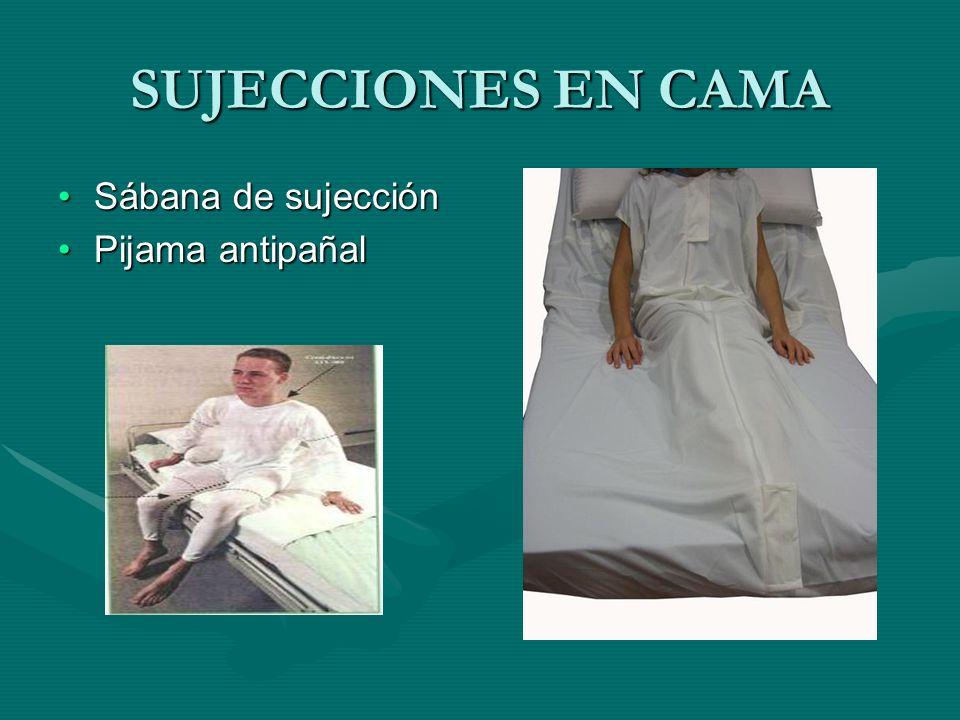 SUJECCIONES EN CAMA Sábana de sujecciónSábana de sujección Pijama antipañalPijama antipañal