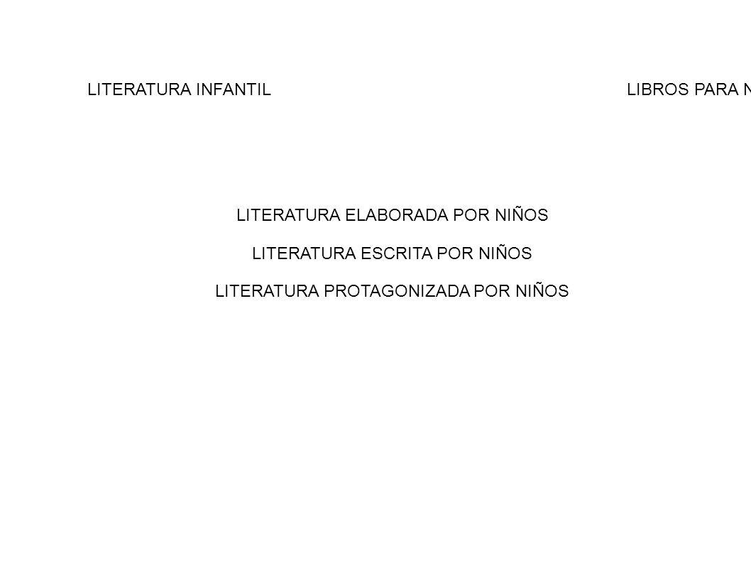 LITERATURA INFANTILLIBROS PARA NIÑOS LITERATURA ELABORADA POR NIÑOS LITERATURA ESCRITA POR NIÑOS LITERATURA PROTAGONIZADA POR NIÑOS