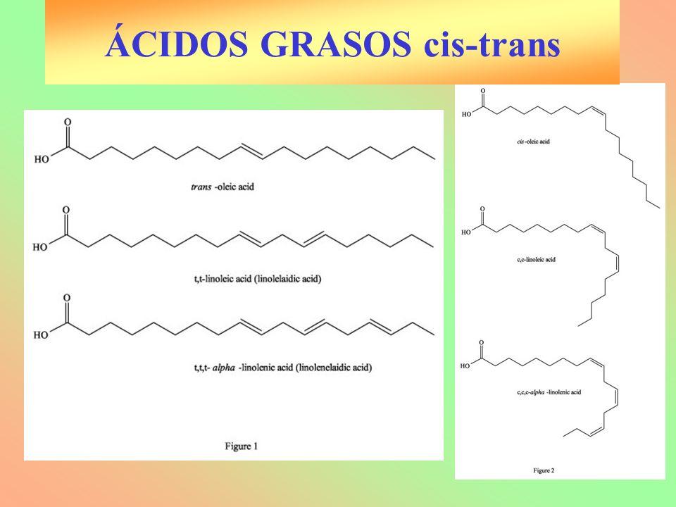 ÁCIDOS GRASOS cis-trans