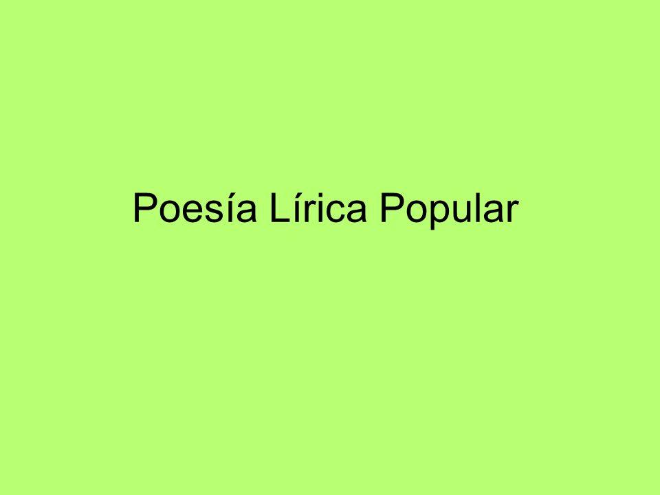 Poesía Lírica Popular