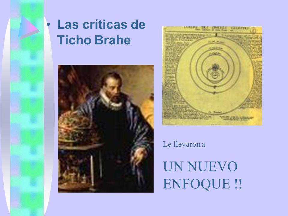 Las críticas de Ticho Brahe Le llevaron a UN NUEVO ENFOQUE !!