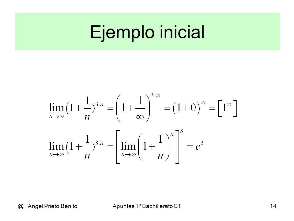 @ Angel Prieto BenitoApuntes 1º Bachillerato CT15 Ejemplos 1-2-3 (Siempre n oo y sólo si [1 oo ])