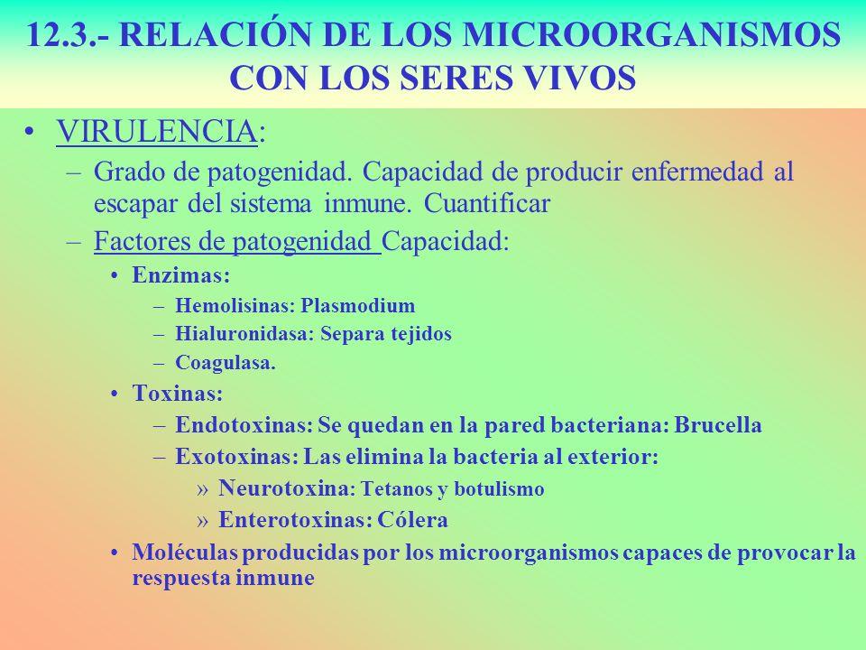 VIRULENCIA: –Grado de patogenidad. Capacidad de producir enfermedad al escapar del sistema inmune. Cuantificar –Factores de patogenidad Capacidad: Enz