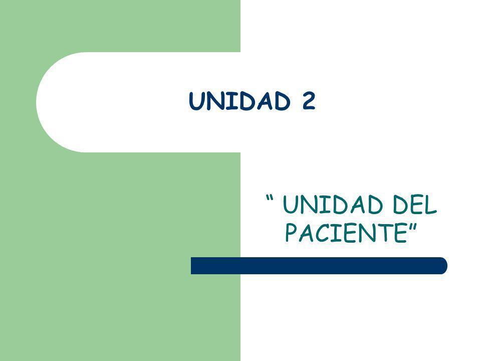 UNIDAD 2 UNIDAD DEL PACIENTE