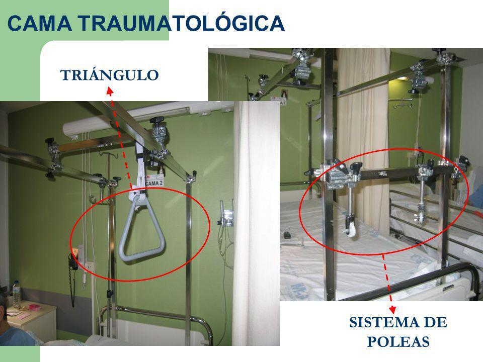 SISTEMA DE POLEAS TRIÁNGULO CAMA TRAUMATOLÓGICA