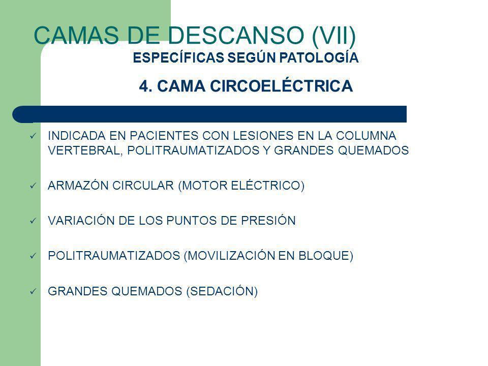 CAMAS DE DESCANSO (VII) INDICADA EN PACIENTES CON LESIONES EN LA COLUMNA VERTEBRAL, POLITRAUMATIZADOS Y GRANDES QUEMADOS ARMAZÓN CIRCULAR (MOTOR ELÉCT
