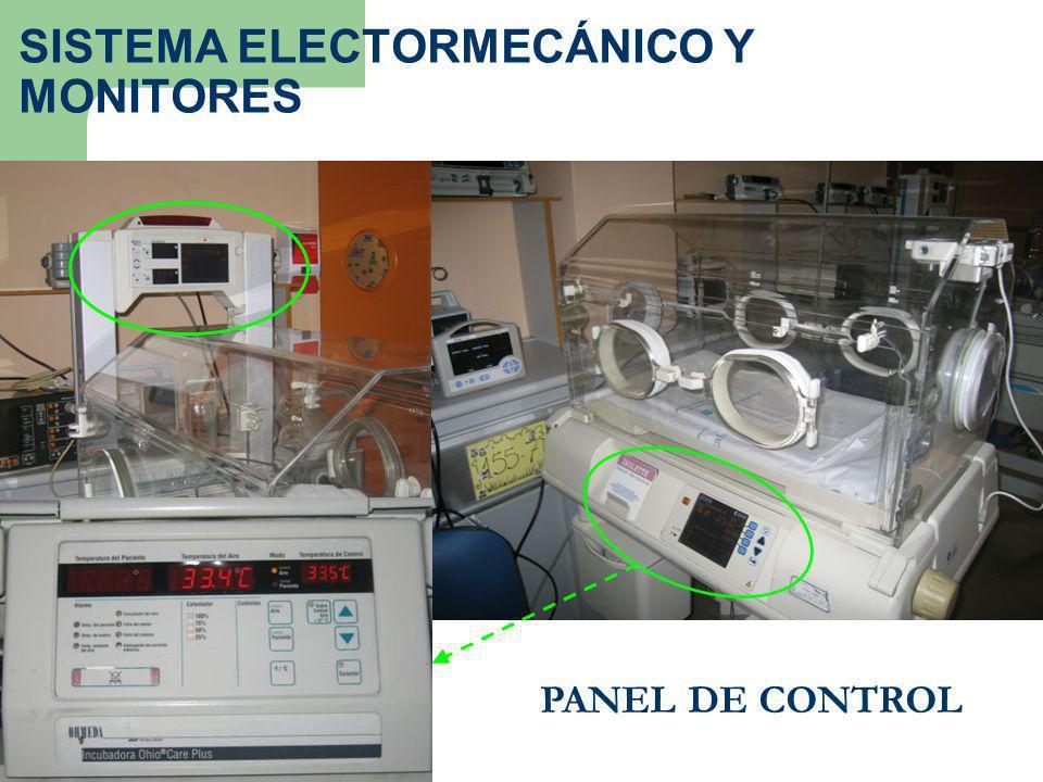 PANEL DE CONTROL SISTEMA ELECTORMECÁNICO Y MONITORES