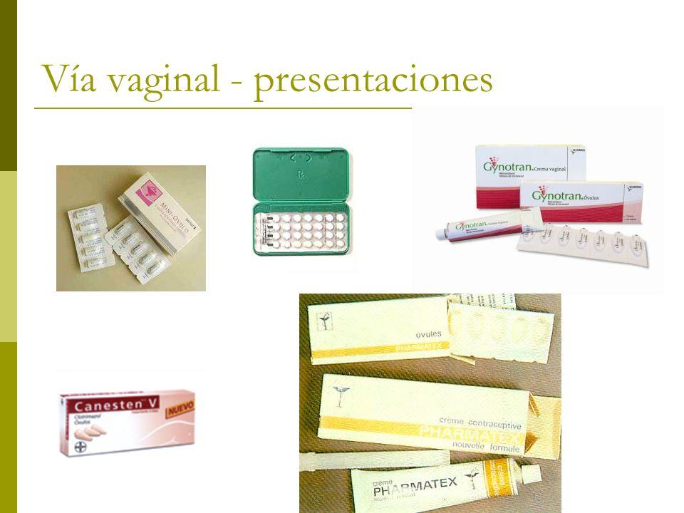 Vía vaginal - presentaciones