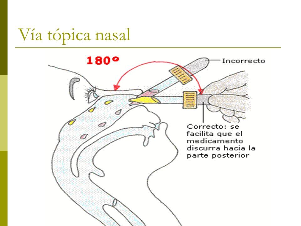 Vía tópica nasal