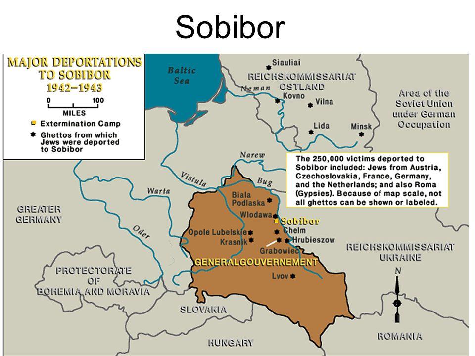 Sobibor Plano de Sobibór, según era en Junio de 1943. Copyright: Rutherford, 2002.