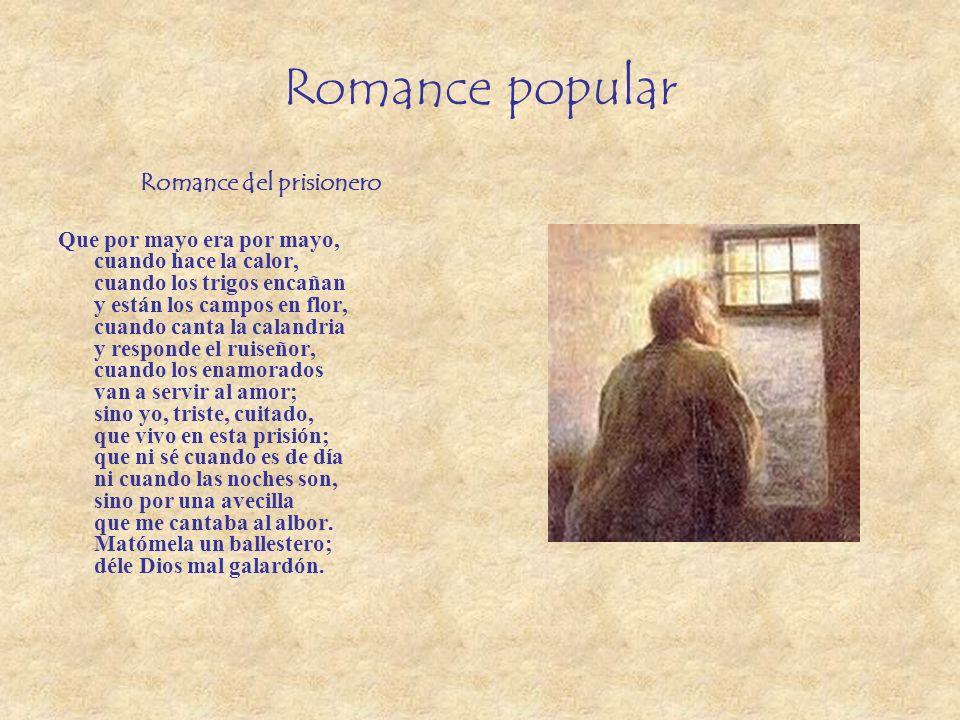 Resultado de imagen de imágenes libres de autor del romance del prisionero
