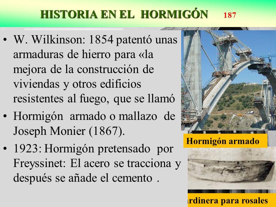 HISTORIA EN EL HORMIGÓN HISTORIA EN EL HORMIGÓN 187 Freyssinet construyó el hangar de Orly como cuerpos parabólicos doblados Jardinera para rosales W.