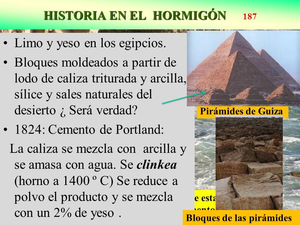 HISTORIA EN EL HORMIGÓN HISTORIA EN EL HORMIGÓN 187 Acantilados de Portland, U.K. Del color de esta caliza jurásica se le debe el nombre al cemento Li
